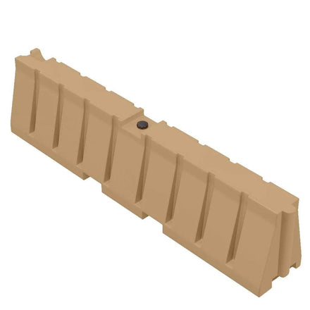 """Tan Water/Sand Fillable All Purpose Roadway or Airport Barricade - 24"""" H x 96"""" L x 16"""" W"""