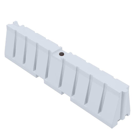 """White Water/Sand Fillable All Purpose Roadway or Airport Barricade - 24"""" H x 96"""" L x 16"""" W"""