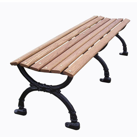 Classic Wood Backless Park Bench - 80 In.