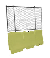 "Water/Sand Fillable Jersey Barrier with Fencing Option - 32"" H x 72"" L x 18"" W, 70 lbs"