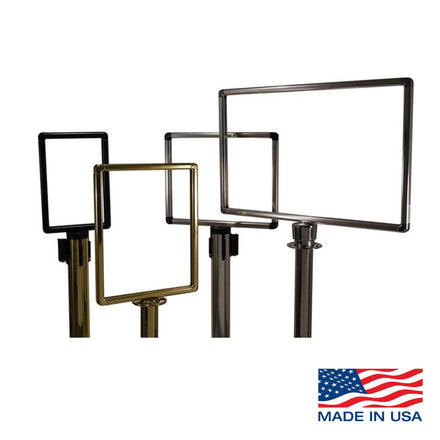 Heavy Duty Designer Sign Frames for Visiontron Retracta-Belt Barriers and Stanchions
