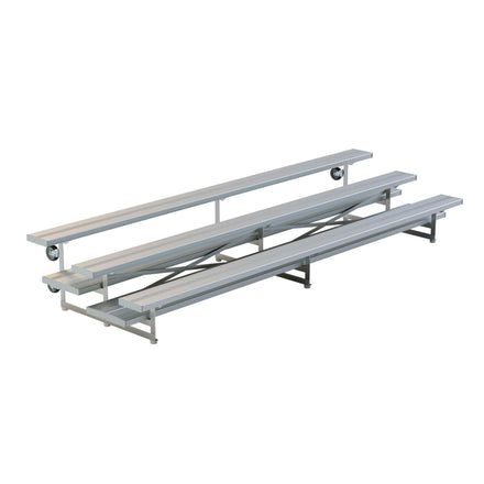 Buy Tip Roll Aluminum Portable Bleachers 3 Rows Online Crowd Control Warehouse