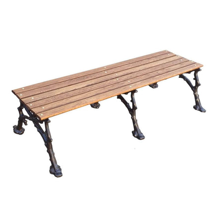 Vines Wood Backless Park Bench - 80 In.
