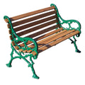 Vines Wood Park Bench - 80 In.