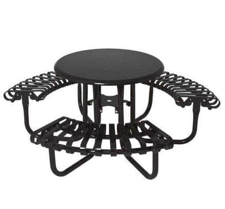 Kensington 3-Seat Round Solid Top Picnic Table - 46 In.