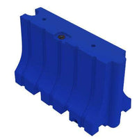 "Blue Water/Sand Fillable Traffic Barrier - 42"" H x 72"" L x 24"" W"