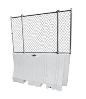 "White Water/Sand Fillable Traffic Barrier - 42"" H x 72"" L x 24"" W with fencing"