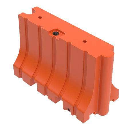 "Orange Water/Sand Fillable Traffic Barrier - 42"" H x 72"" L x 24"" W"