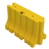 "Yellow Water/Sand Fillable Traffic Barrier - 42"" H x 72"" L x 24"" W"