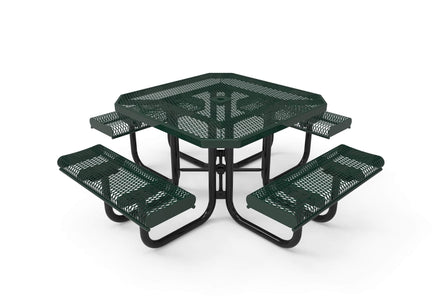 Octagon Rolled Portable Table - Diamond Pattern / Expanded Steel