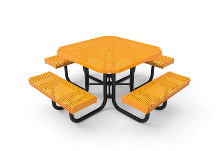 Octagon Rolled Portable Table - Circular Pattern