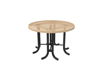 Round Patio Table - Diamond Pattern