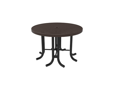 Round Patio Table - Circular Pattern / Punched Steel