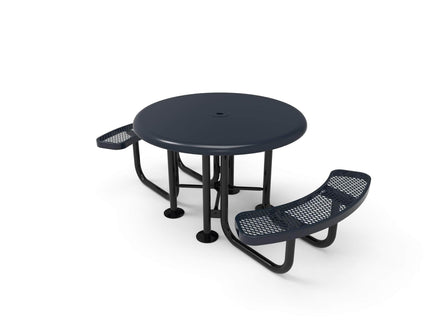 Round Smooth Top Portable Table - Diamond Pattern