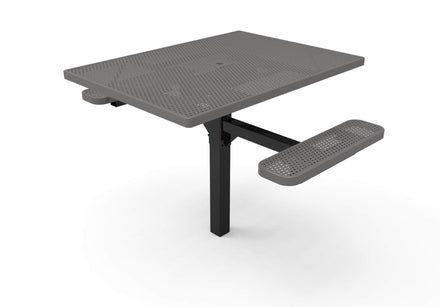 Square Pedestal Picnic Table with 2 ADA Seats - Circular Pattern - 46 In.