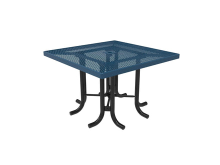Square Patio Table - Diamond Pattern / Expanded Steel