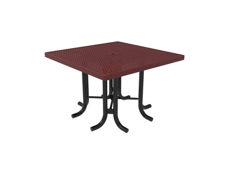 Square Patio Table  - Circular Pattern / Punched Steel