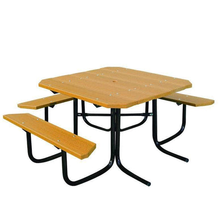 3-Seat ADA Accessible Square Table - 48 In.