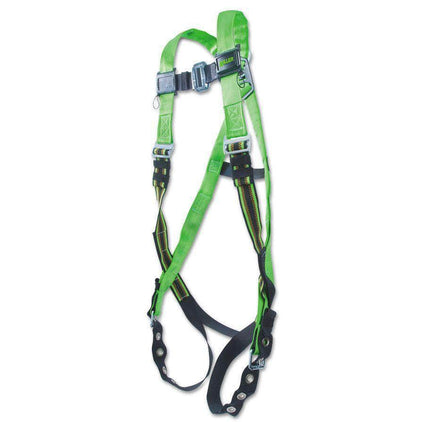 Honeywell Miller DuraFlex Python Full Body Harness System with Sliding Back D-Ring - Green