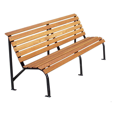 L-Shaped Wood Park Bench - 60 In.