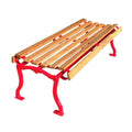 Plain Slatted Wood Backless Park Bench - 60 In.