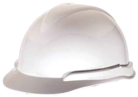 MSA Vanguard Lateral White Hard Hat Protective Helmet with Fas-Trac Suspension