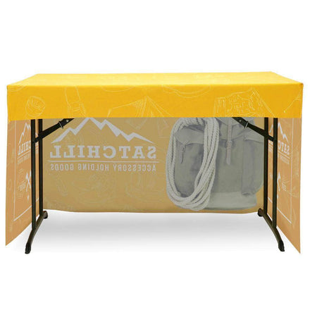 Fitted Table Throw Full Color Print 4 Ft.
