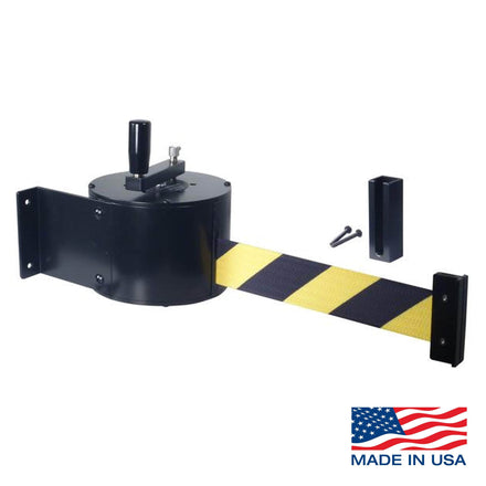 50 Ft. Fixed Wall Mount Manual Wind Retracta-Belt Barrier