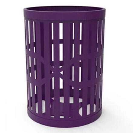 55 Gallon Trash Receptacles - Slatted Steel