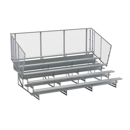 Aluminum Portable Bleachers - Low Rise with Fence 5&10 Row