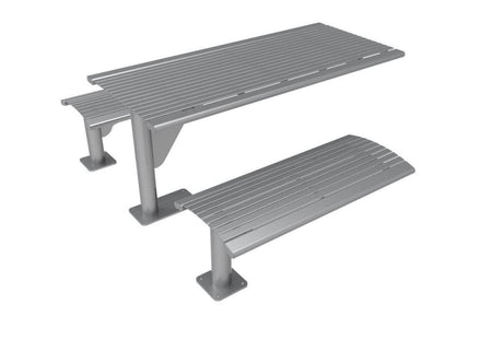 Phoenix Cantilever Picnic Table - Horizontal Slatted Steel -  6 Ft.