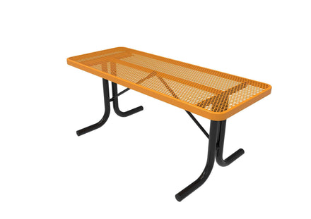 Rectangular Utility Table - Diamond Pattern/Expanded Metal