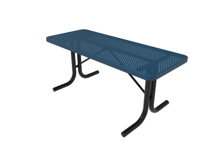 Rectangular Utility Table - Circular Pattern/Punched Steel