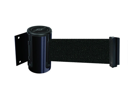 Tensabarrier 896 Wall Mounted Retractable Belt Barrier black for sale