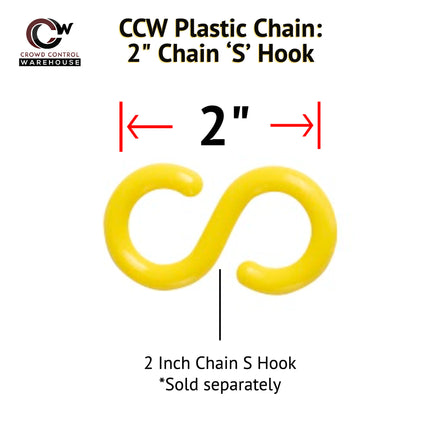 2.0 in. (#8) Plastic Chain 'S' Connecting End