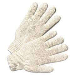 Anchor Brand Heavy Weight String-Knit Gloves, Large - Natural White