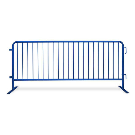8 Ft. Heavy Duty Interlocking Steel Barricade - Blue