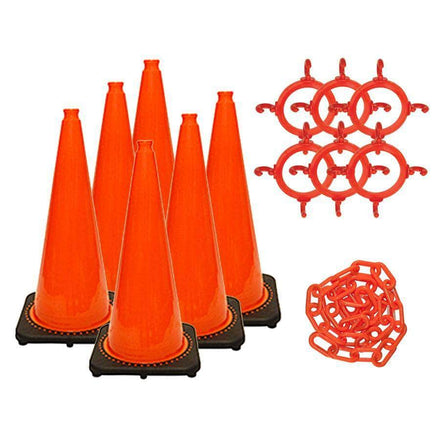 "C3 28"" Traffic Cone and Chain Kit"