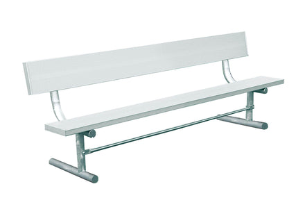 Aluminum Bench with Back