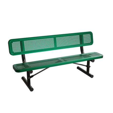 Extra Heavy-Duty Bench with Back - Perforated Pattern