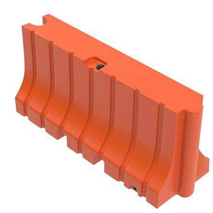 "Orange Water/Sand Fillable Traffic Barrier - 42"" H x 96"" L x 24"" W"