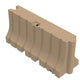 "Tan Water/Sand Fillable Traffic Barrier - 42"" H x 96"" L x 24"" W"