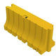 "Yellow Water/Sand Fillable Traffic Barrier - 42"" H x 96"" L x 24"" W"