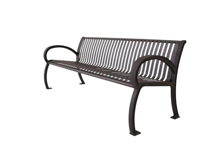 Wilmington Vertical Slatted Back Park Bench