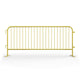 8.5 Ft. Heavy Duty Interlocking Steel Barricade - Safety Yellow
