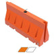 "Water/Sand Fillable Roadway Barrier - 32"" H x 72"" L x 18"" W - 85 lb."