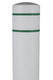 BollardGard Bollard Cover - Light Gray