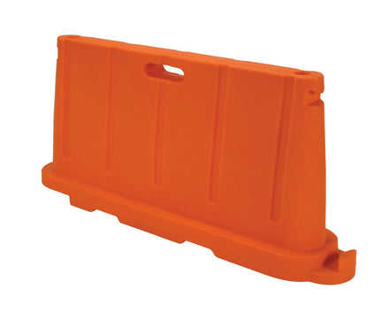 "Stackable Plastic Barricade, Water or Sand Fillable (85lbs) - 36"" H X 78"" L X 18"" W"""
