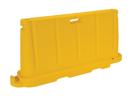 Stackable Plastic Barricade, Water or Sand Fillable (85lbs) - 36 in. H X 78 in. L X 18 in. W