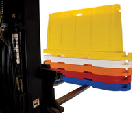 """Stackable Plastic Barricade, Water or Sand Fillable (85lbs) - 36"""" H X 78"""" L X 18"""" W"""""""